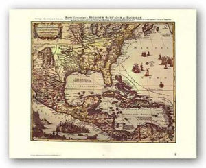 Map of North and South America by Joan Blaeu