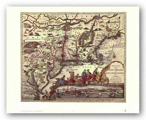 Map of North Eastern America by Joan Blaeu