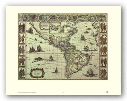 Map of South Eastern America by Joan Blaeu
