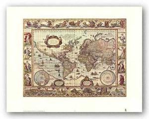 Map of the World by Joan Blaeu