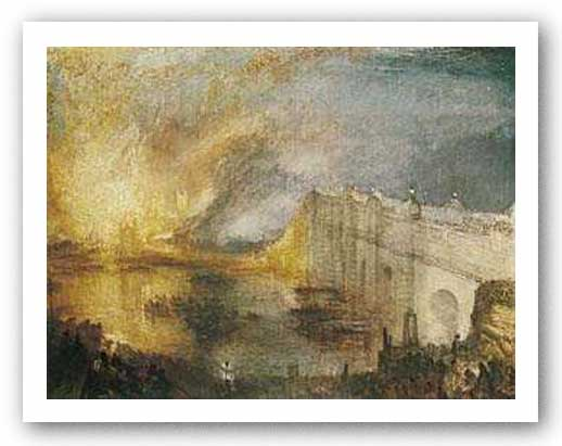 Burning of the Houses of Parliament by J.M.W. Turner