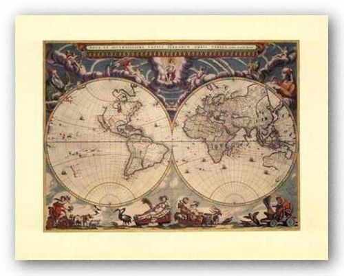 World Map by Joan Blaeu