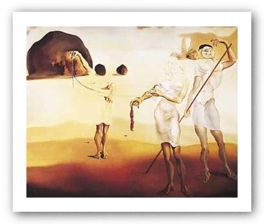 Enchanted Beach with 3 Fluid Graces by Salvador Dali