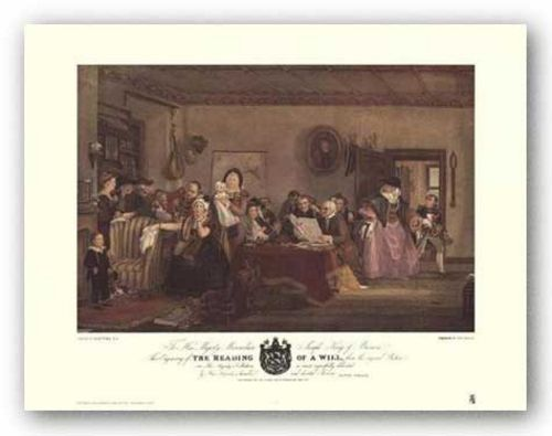The Reading of a Will by Sir David Wilkie