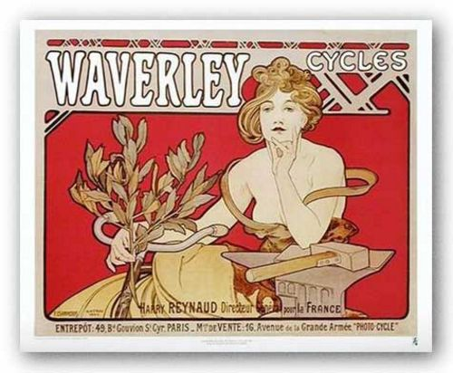 Waverley Cycles by Alphonse Maria Mucha