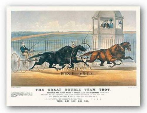 Great Double Team Trot by Currier and Ives