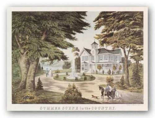 Summer Scene in the Country by Currier and Ives