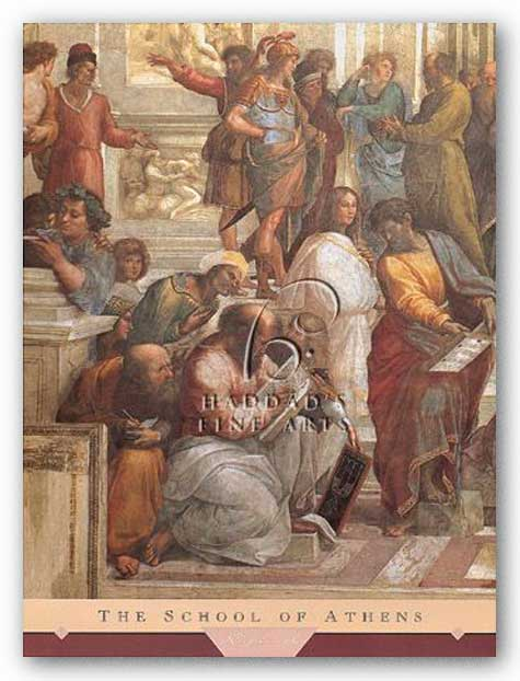 The School of Athens (Detail, Left) by Sanzio Raphael (Raffaello)