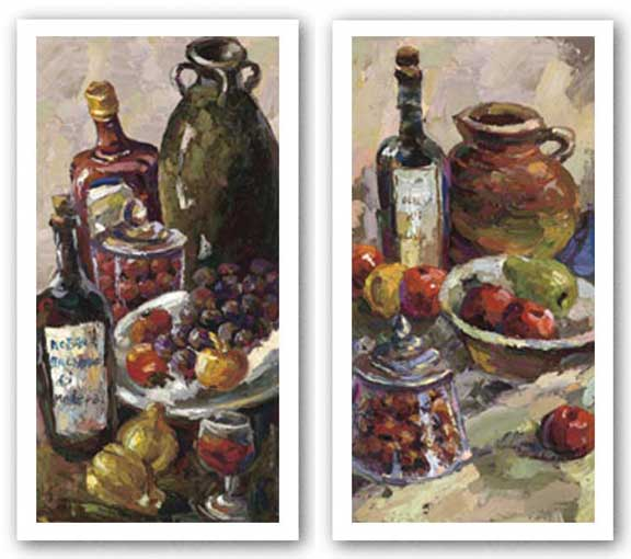 Pears and Wine-Apples and Pomegranates Set by Blackburn