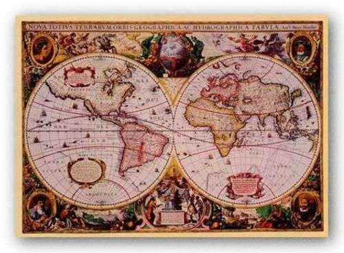 World Map - Flemish 1512-1594 by Mercator Map