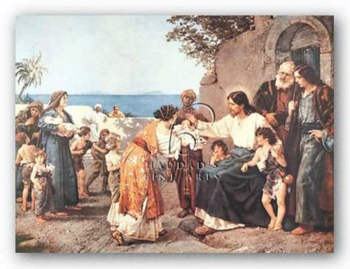 Christ Blessing the Children by H. Clementz
