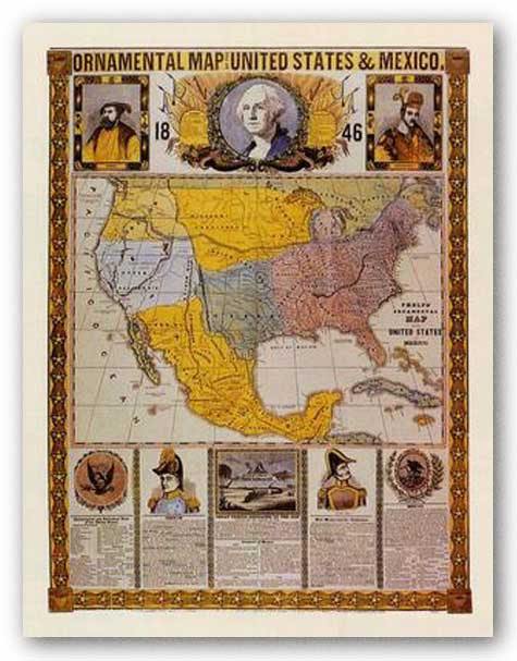 Continental Map of the United States and Mexico by Humphrey Phelps