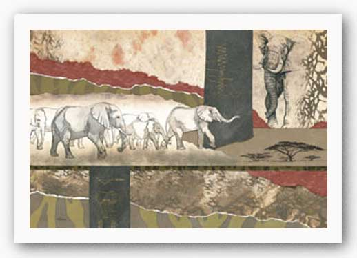 Serengeti Elephants by Joseph Poirier