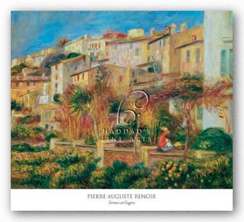 Terrace at Cagnes by Pierre-Auguste Renoir