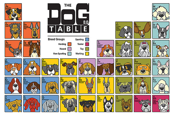 The Dog Table by Angry Squirrel Studio