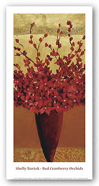 Red Cranberry Orchids by Shelly Bartek