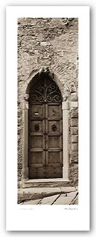 La Porta Via, Cortona - Museum Wrapped Canvas by Alan Blaustein