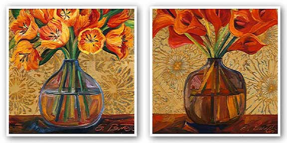 Golden Tulips and Orange Lilies Set by Shelly Bartek