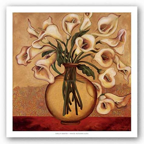 White Autumn Lilies by Shelly Bartek