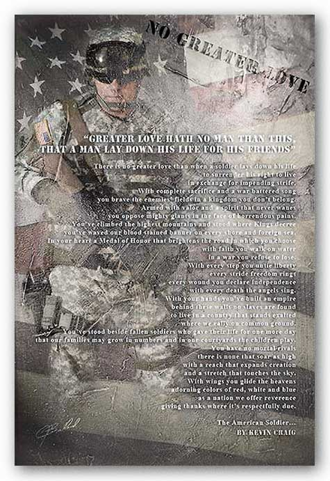 Stand and Salute - No Greater Love - Soldier by James Bullard