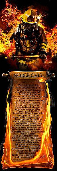 Firefighter's Noble Call by Jason Bullard