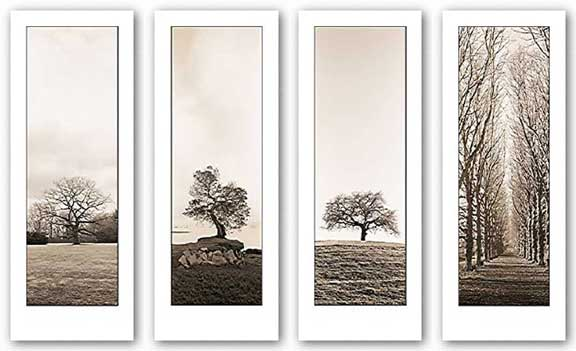 Trees Set (Four Prints) by Alan Blaustein