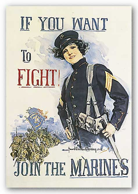 If You Want to Fight! by Howard Chandler Christy