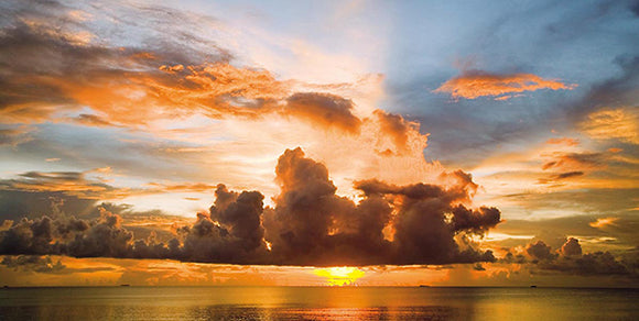 Sunset in Polynesia by Ashley Cooper