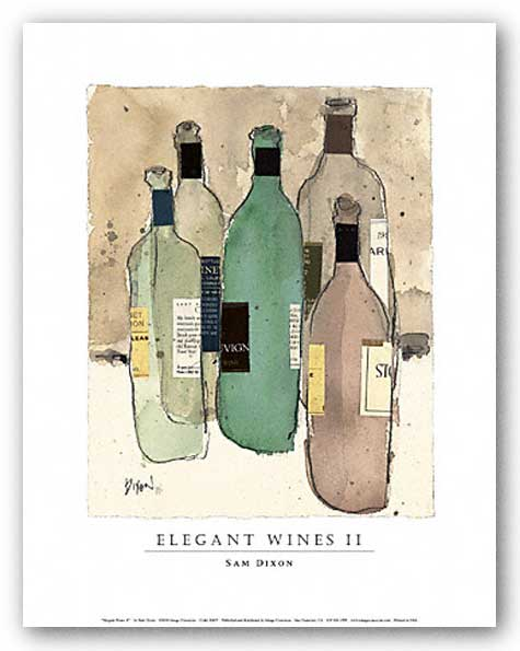 Elegant Wines II by Sam Dixon