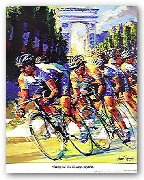 Victory on the Champs Elysees by Malcolm Farley