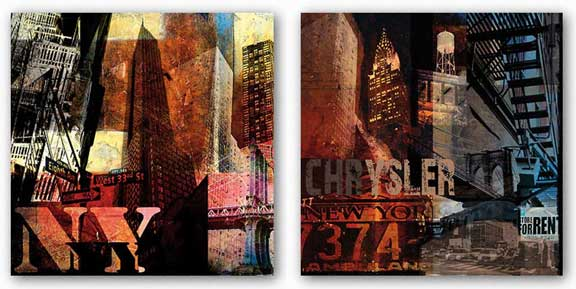 Chrysler and New York Set by Nelson Figueredo