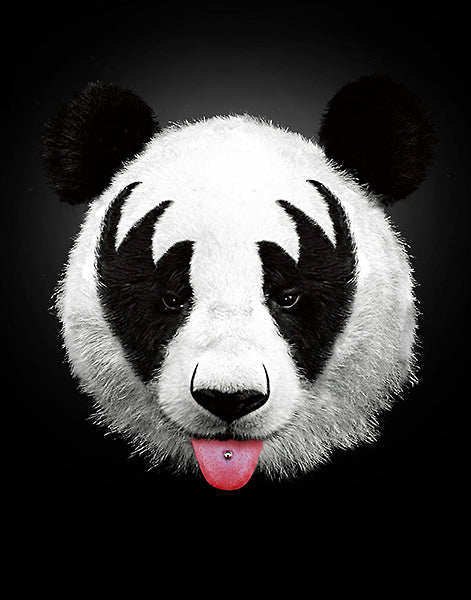 Panda Rocks (Kiss of a Panda) by Robert Farkas