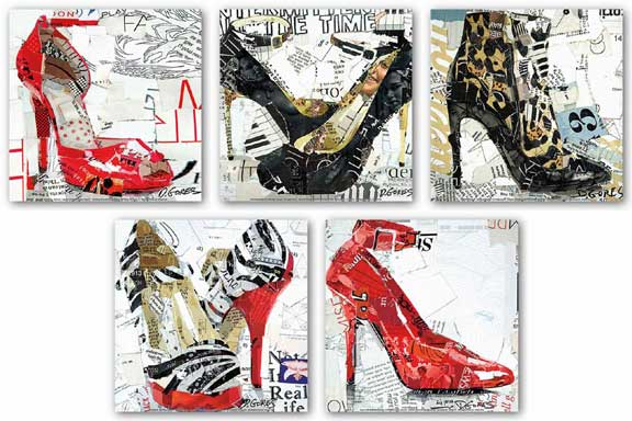 Shoes Set (Five Prints) by Derek Gores