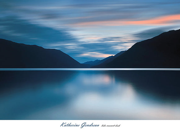 Lake Crescent Dusk by Katherine Gendreau