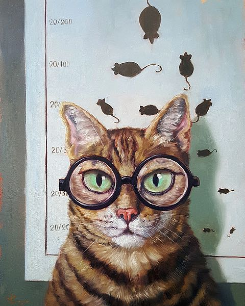 Feline Eye Exam by Lucia Heffernan