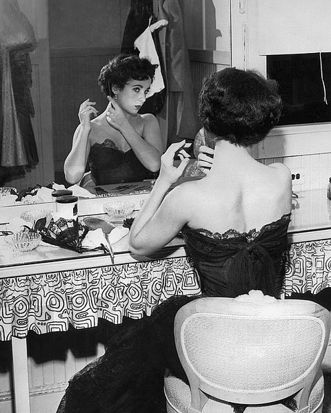 Elizabeth Taylor, 1951, behind the scenes 'A Place in the Sun' by Hollywood Historic Photos