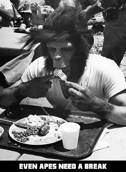 Even Apes Need a Break, 1968, 'Planet of the Apes' by Hollywood Historic Photos