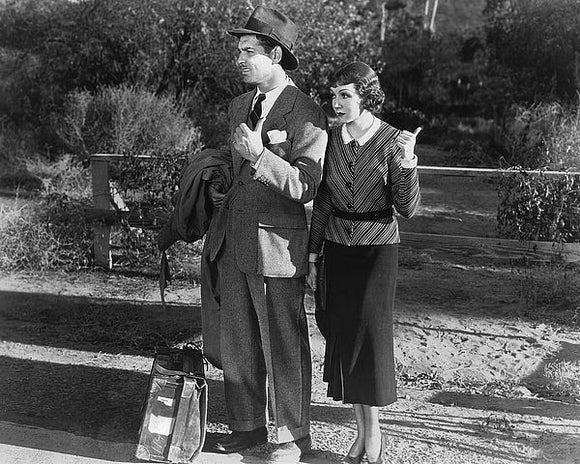 Clark Gable and Claudette Colbert, 1934, 'It Happened One Night' by Hollywood Historic Photos