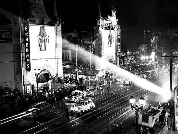 Grauman's Chinese Theatre, Hollywood Blvd., 1944 by Hollywood Historic Photos
