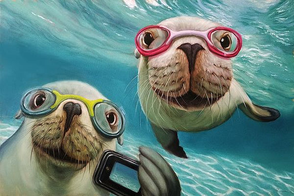 Underwater Selfie by Lucia Heffernan