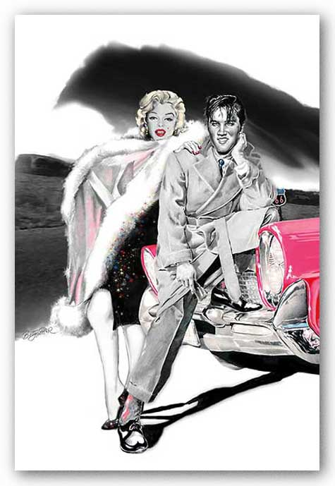 Two for the Road - Elvis Presley and Marylin Monroe by Betty Harper
