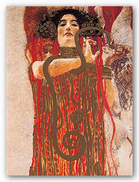 Hygieia (Metallic) by Gustav Klimt