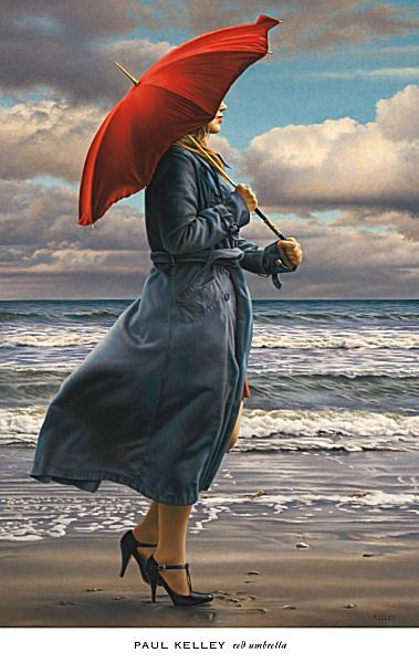 Red Umbrella by Paul Kelley