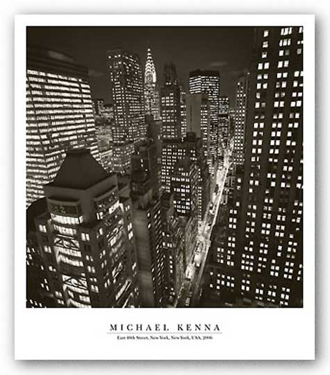 East 40th Street, NY 2006 by Michael Kenna