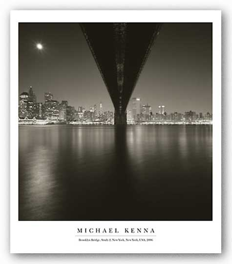 Brooklyn Bridge Study 2, New York 2006 by Michael Kenna