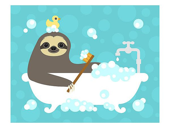 Scrubbing Bubbles Sloth by Nancy Lee