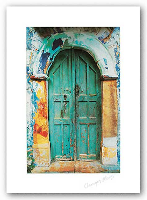 Arched Doorway (White Border) by George Meis