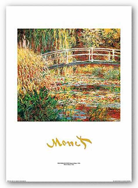 The Water Lily Pond (Metallic Title) by Claude Monet