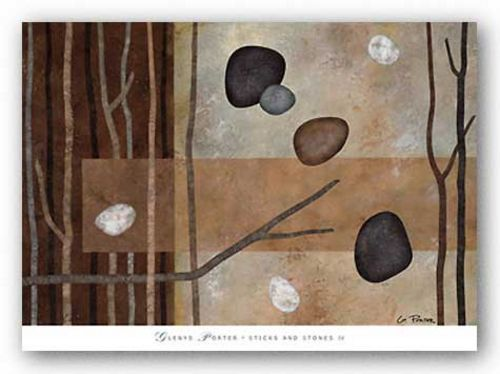 Sticks and Stones IV by Glenys Porter