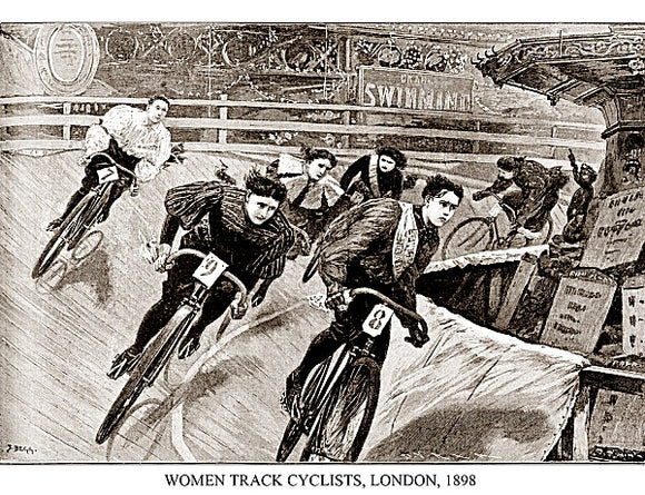 Women Track Cyclists, London, 1898 by Sports Pressee